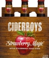 Cider Boys Strawberry Magic Apple Strawberry Hard Cider - 6 bottles / 12 fl oz