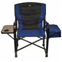 Faulkner FLK-49581 El Captain Director Chair with Cooler Bag - Blue