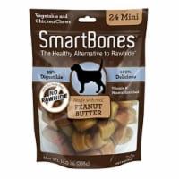 Spectrum Brands Pet 236132 Smart Bones Peanut Butter Dog Chew, Mini - Pack of 24 - 24