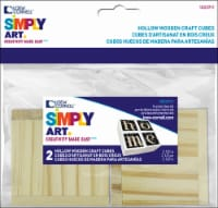 Loew-Cornell Simply Art Wooden Craft Cubes - Natural - 2.5 in