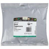 Frontier Herb Peppercorns Organic Whole Black Tellicherry Grade - 16 oz