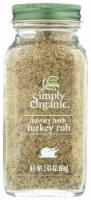 Simply Organic Savory Herb Turkey Rub - 2.43 oz