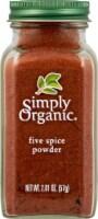Simply Organic Five Spice Powder - 2.01 oz