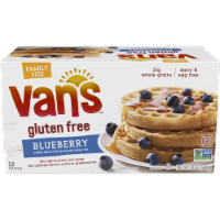 Van's Gluten Free Blueberry Waffles Family Size 12 Count