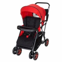Baby Trend SS80A07A Sit N Stand Folding Compact Two Seat Baby Stroller, Red - 1 Piece
