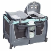 Baby Trend Retreat Nursery Center Organizer w/ Bassinet and Changing Table, Mint - 1 Piece
