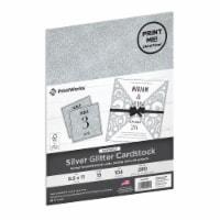 PrintWorks® Printable Silver Glitter Cardstock - 15 ct / 8.5 x 11 in