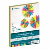 Printworks Multi-Colored Cardstock - 50 Pack - Neon