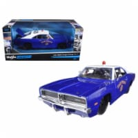 1969 Dodge Charger R/T State Police Car Blue 1/25 Diecast Model Car by Maisto - 1