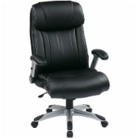 Office Star  ECH38665AEC3 WorkSmart Eco Leather Executive Chair - Black - 1