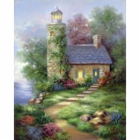 Acrylic Paint Your Own Masterpiece Kit 11 X14 -Romantic Lighthouse - 1
