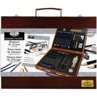 essentials(TM) Wooden Box Art Set-Sketch & Draw 45/Pkg