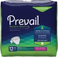 Unisex Adult Incontinence Brief Prevail® Bariatric Size A Disposable Heavy Absorbency (12 BG)