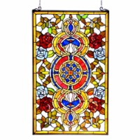 CH1P201CV32-GPN CHLOE Lighting EUREKA SONARATiffany-glass Victorian Window Panel 20x32