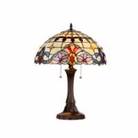 "CH33313VI16-TL2 CHLOE Lighting COOPER Tiffany-style 2 Light Victorian Table Lamp 16"" Shade"