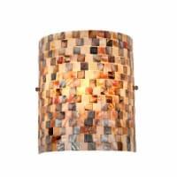 "CH3CD28BC08-WS1 CHLOE Lighting SHELLEY Mosaic 1 Light Wall Sconce 8.3"" Wide"