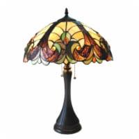 "CH16780VI16-TL2 CHLOE Lighting AMOR Tiffany-style 2 Light Victorian Table Lamp 16"" Shade - 1 unit"