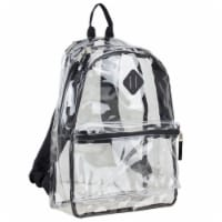 Eastsport Diamond Lashtab Black Trim Backpack - Clear
