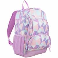 Fuel Crystal Clear Triple Decker Backpack - Peach/White