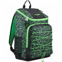 Fuel Wide Mouth Bungee Backpack - Black/Lime