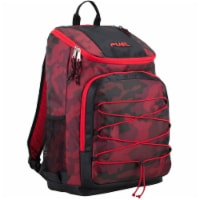 Fuel Wide Mouth Bungee Backpack - Red Camo