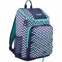 Fuel Wide Mouth Bungee Backpack - Chevron Deep Cobalt