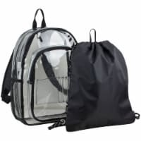 Fuel 2-PC Clear Backpack with Black Drawstring Cinchsack