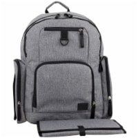 Bodhi Bond Street Backpack Diaper Bag - Grey Chambray