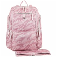 Bodhi Lafayette Street Multi-Function Backpack Diaper Bag - Pink Fluid Camo
