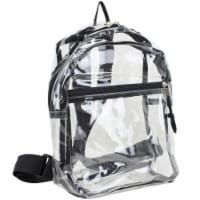 Eastsport Black Trim Mini Backpack - Clear