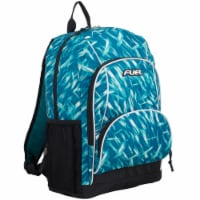 Fuel Triple Decker Backpack - Brush Stroke Aqua/White - 1 ct