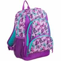 Fuel Colorful Butterflies Triple Decker Backpack