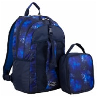 Fuel Deluxe Backpack/Lunch Bag Combo - Blue/Black