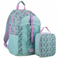 Fuel Deluxe Backpack/Lunch Bag Combo - Pink/Blue