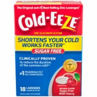 Cold-Eeze Sugar Free All Natural Wild Cherry Flavor Lozenges