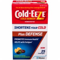 Cold-EEZE Plus Defense Natural Citrus with Elderberry Flavor Cold Remedy Lozenges