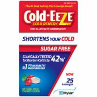 Cold-EEZE Sugar Free Natural Wild Cherry Flavor Cold Remedy Lozenges