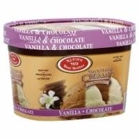 Klein's Real Kosher Smooth & Creamy Vanilla Chocolate Ice Cream - 56 fl oz
