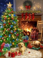 Springbok's 500 Piece Jigsaw Puzzle Christmas Morning - Made in USA - 1