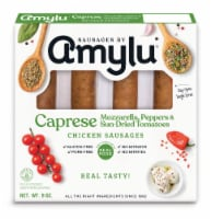 Sausages by Amylu Caprese Mozzarella Peppers & Sun-Dried Tomatoes Chicken Sausages