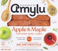 Sausages by AMYLU Apple & Maple Chicken Antibiotic Free Mini Sausage Links