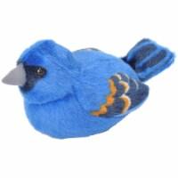 Wild Republic WR18232 Blue Grosbeak Stuffed Animal With Sound - 5 in.
