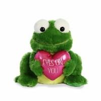 "Aurora World Val Sayings Eyes on You Frog Plush Animal, 9.5"" - 1"