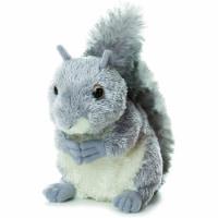 """Aurora World Mini Flopsie Plush Nutty the Gray Squirrel, 6.5"""""""