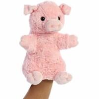 Aurora World Pinky The Pig Hand Puppet Plush, Pink