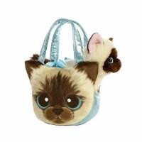 Aurora World Fancy Pals Pet Carrier Siamese Kitten Plush - 1