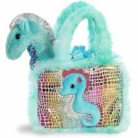 Aurora World Pet Carrier Plush Toy Animal, Fancy Pals Seahorse