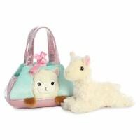 Aurora Peek a Boo-Llama Plush Pet Carrier Purse - 1