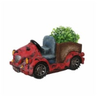 NorthLight 14.5 in. Distressed Red Vintage Car LED Lighted Solar Powered Outdoor Garden Patio - 1