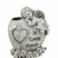 Northlight 32037097 6.5 in. Religious In Loving Memory Sleeping Bereavement Angel Outdoor Gar - 1